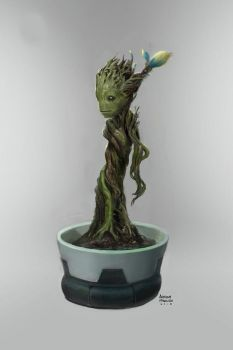 Guardians of the Galaxy Baby Groot concept art by Ubermonster