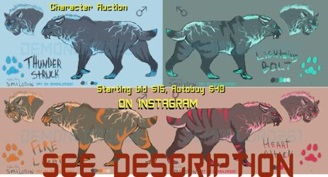 Electric Saber Adopts: Auction! by demonlord261