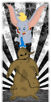 Dumbo vs. Oogie Boogie by andy-pants