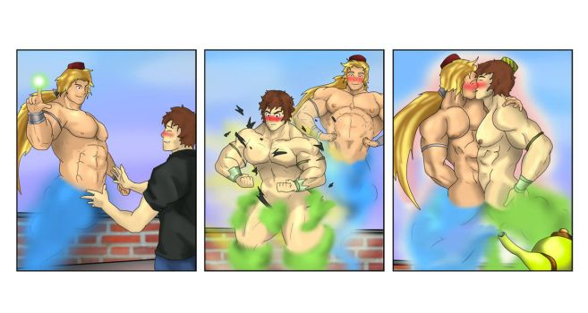 Muscle Genie Commission (Part 2) for ''khr1988'' by spartasko