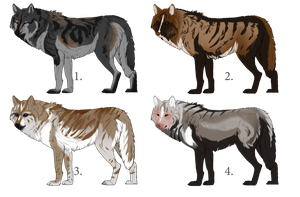 Unique Wolf Adoptables [for art or points] by Mossasaurus