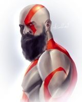 Doodle Daddy Kratos by axouel2009