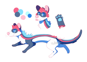 red/blue noodle [Adoptable][Closed] by Solminol