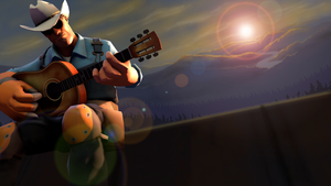 Music on the roof. [SFM+Gimp] by Wojak1991