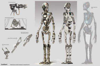 Maintenance droid concept by NikolayAsparuhov
