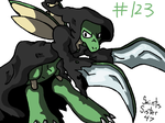 #123 Scyther by SaintsSister47