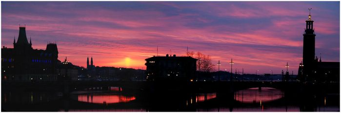 Stockholm at  sunset. by pmd1138