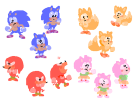 Sonic And The Hedgehogs by Mossworm