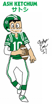 Ash Ketchum, Saskatchewan Roughrider QB in action by FromEquestria2LA