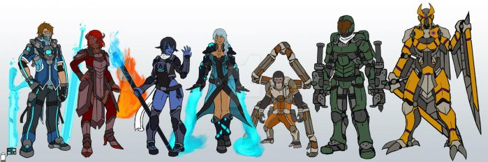 Overwatch OCs: Line-up by Exvnir