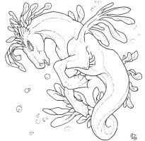 Free Seahorse Lineart by bonbon3272