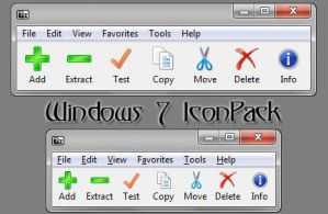 7-Zip Win7 Toolbar Icons by devin