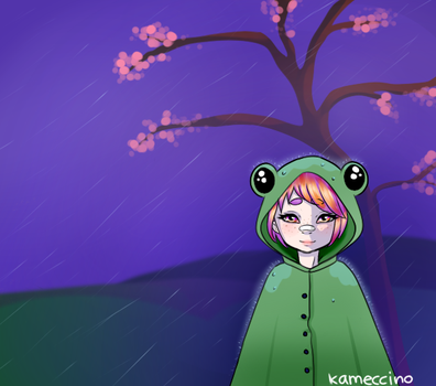 Raining Frog by Kameccino