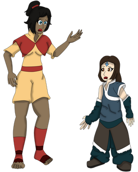 Korra and Jinora Body swap TF by Dracoknight545