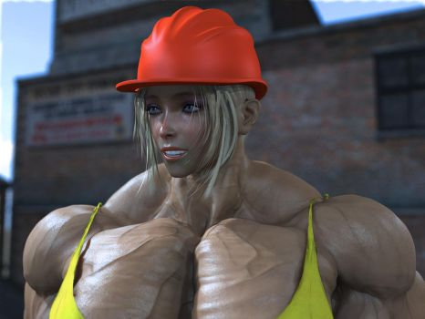 builder girl by alessandro2012