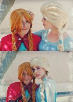 Ill be always by your side Anna and Elsa cosplay by MissWeirdCat