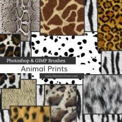 Animal Prints Photoshop and GIMP Brushes by redheadstock