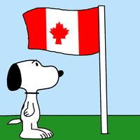 Snoopy with flag of Canada by MarcosPower1996