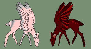 (CLOSED) Cheap Peryton Adopts by DamonTheDeer