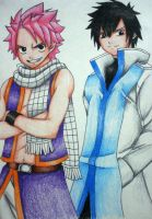 Fairy Tail: Natsu Dragneel and Gray Fullbuster2 by jEstErnEko13