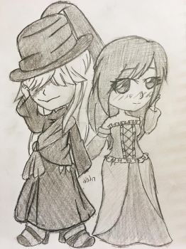 Commission: Undertaker and Alison by KoharuVeddette