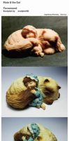 Pixie and the Cat by sculptor101