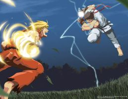 Street Fighter : Ken vs Ryu by toukairin