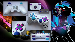 Vinyl Scratch MLP: FiM Custom Sony PS3 Controller by CARDI-ology
