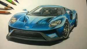 pencil ford gt by austingacky