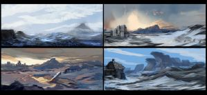4 Quick Landscapes by Brollonks