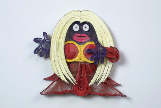 Pokemon Paper Quilling Art 124 Jynx by wholedwarf