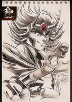 COPIC sketch 38 DEATHMASK by FranciscoETCHART