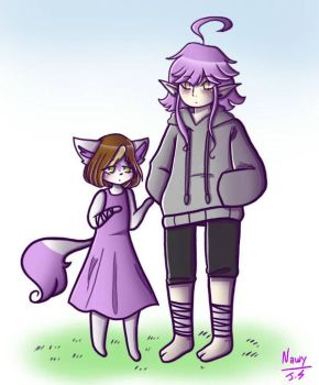 Oh look, it's Lavender and little Yuiona((collab)) by little-kawaii-baka