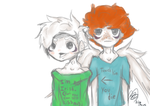 Ivan and Chauncey St.Patrick's day doodle by illogicalgummybears
