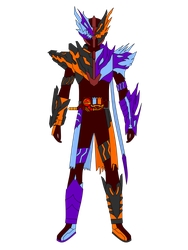 Commission - Kamen Rider Cross-Blow ArcticMagma by JoinedZero