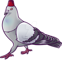 Pigeon with Hat Mk.2 by 88angryoctopus88
