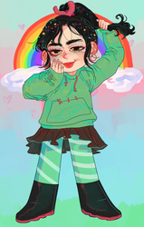cant wait 2 see vanellope again lol by godlyDescentUFO