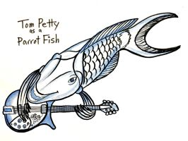 Tom Petty Parrot Fish by Diana-Huang