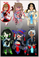 CLOSED ADOPTABLES:: Roleplaying Game Girls by DivinexRemembrance