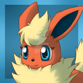 Commission - Rhea the Flareon Icon by DreamyNormy