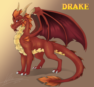 Drake reference sheet by AvaronCave