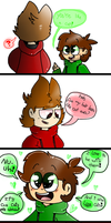 A comic of a Cinammon Roll and a Gay Communist by AndreaTheAngelFox10