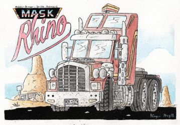 M.A.S.K. - Rhino rolling out by monkeypoke