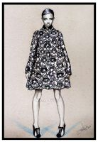 fashion illustration- Graphic pattern by Tania-S