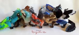 Custom color Raptors by kimrhodes