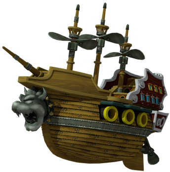 Koopa's Throne Ship - Super Mario CG - Render by LanceBeryl
