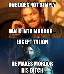 One Does Not Simply Walk Into Mordor... Maybe? by RedRich1917