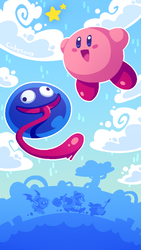 Kirby and Gooey by Cubesona