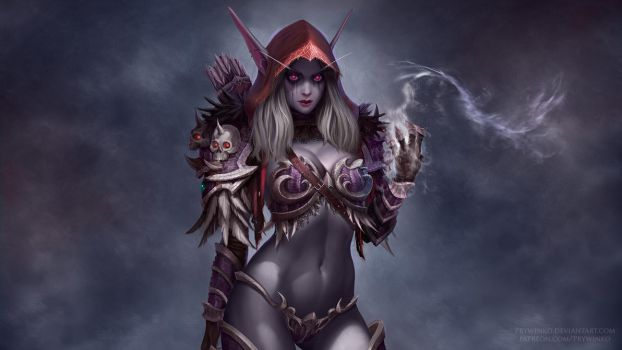 Sylvanas Wallpaper by Prywinko