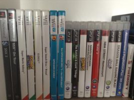 my (small )game collection by BrandyKoopa92
